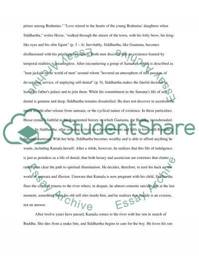 Siddhartha Essay essay example
