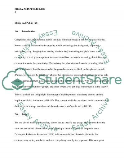 Media and Public Life essay example