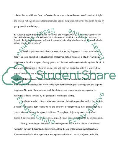 virtue ethics example essay