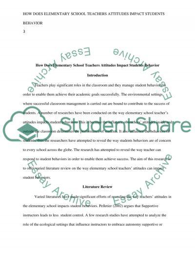 essays teachers influence on students Al starting words for essays james quand j'essayais de demander de l'aide, qu'au moins il gere son bazar, il avait absolument toutes les excuses, et aucun effort ne venait.