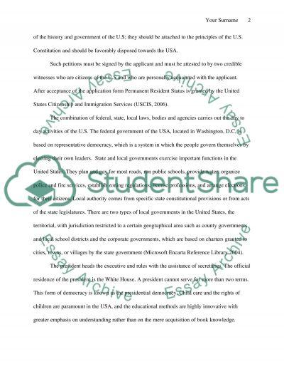 Naturalized Citizen essay example