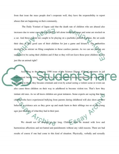 Child Abuse Essay essay example