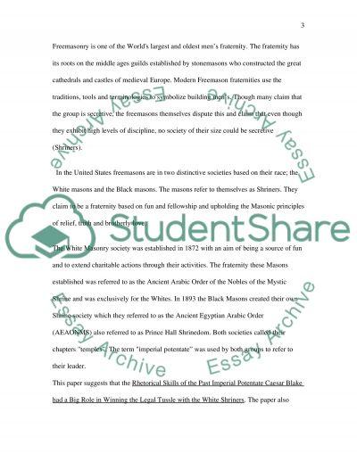 Rhetoric Paper essay example