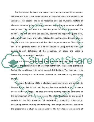 National Math Curriculum