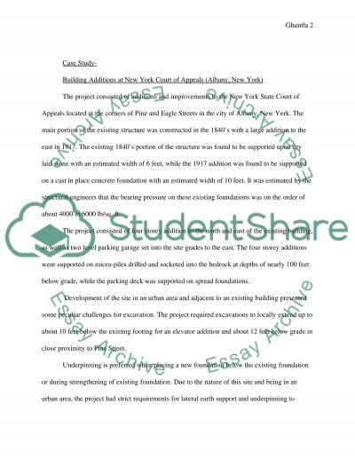 Civil Engineering Construction essay example