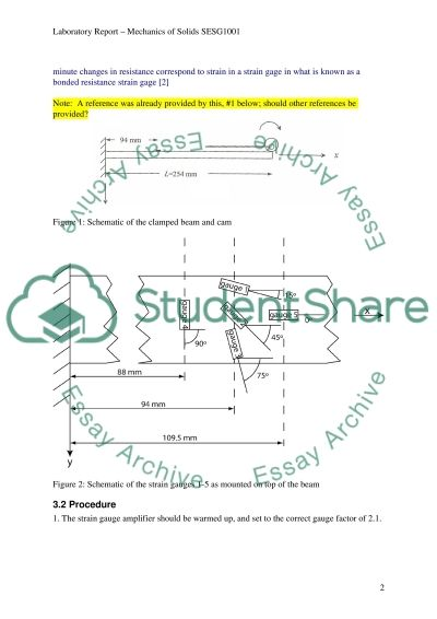 Mohrs Circle and Strain Gauge Rosette Lab Report example