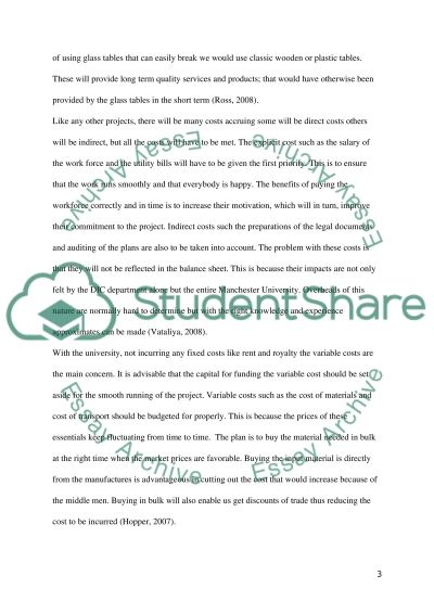 Financial Resources Management Assignment essay example