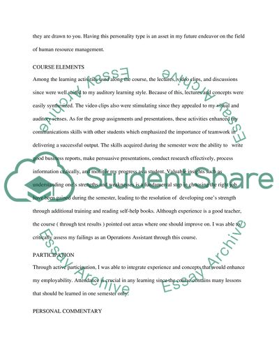 SELF-ASSESSMENT MEMO REPORT Essay Example | Topics and Well Written