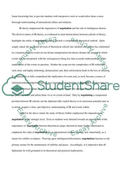 The Art of Negotiation essay example