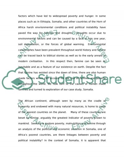 essay about famine in africa Ethiopia essay examples the serious hunger probelm of two african third world countries ethiopia an analysis of the issue of famine in the african continent.