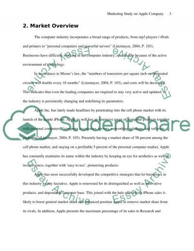 Marketing Study on Apple Company essay example