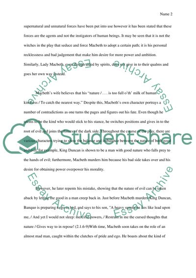 Nature Of Evil And Imbalance Of Nature Is Sharespeares Macbeth Essay Nature Of Evil And Imbalance Of Nature Is Sharespeares Macbeth Example Essay Thesis also Health Promotion Essays  English Essay Writer