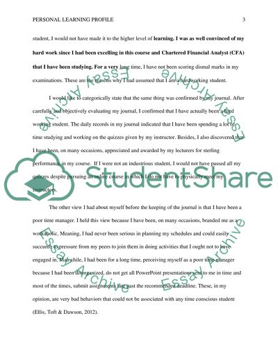 personal learning profile essay example  topics and well written  personal learning profile   essay example