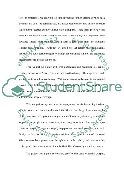 Paper on Supply Chain Management essay example