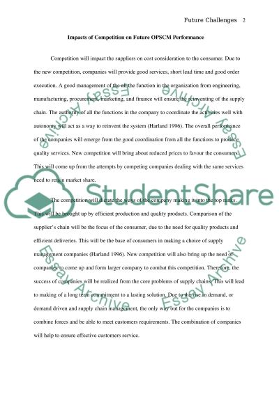 Future challenges essay example