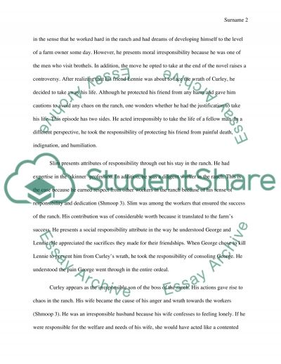Writing A Process Essay Theme Of Responsibility In Of Mice And Men Essay Theme Of Responsibility In  Of Mice And Satisfaction Comes From Helping Others Essay also Activities Essay Mice Of Men Essay Of Mice And Men Essay Outline Gender Essay Topics  Martin Luther King Jr Letter From Birmingham Jail Essay