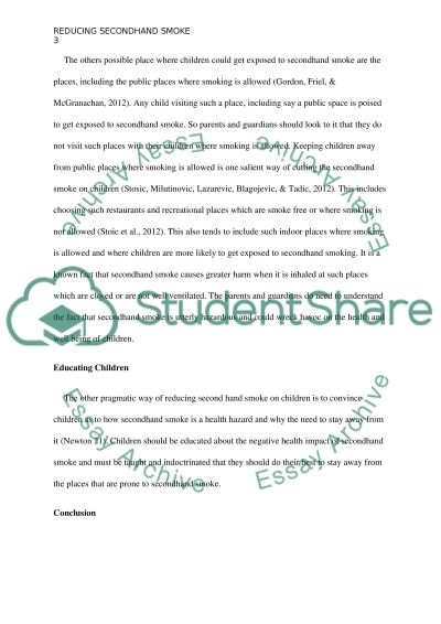 Reducing Secondhand Smoke on Children essay example