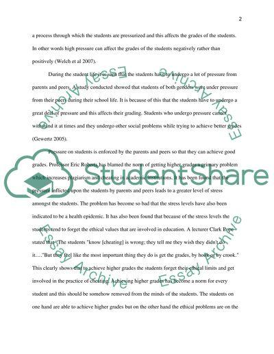 Pressure on students