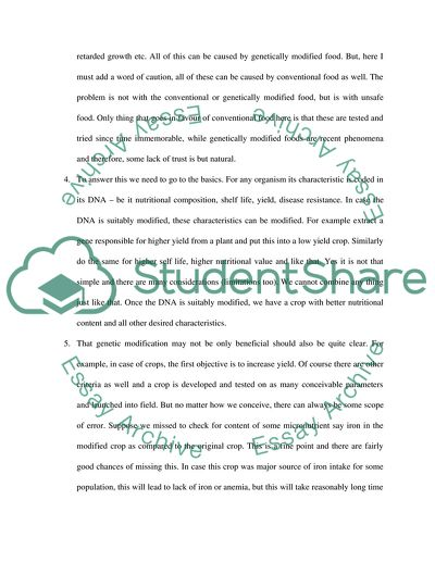genetic modification a hybrid dna essay example  topics and
