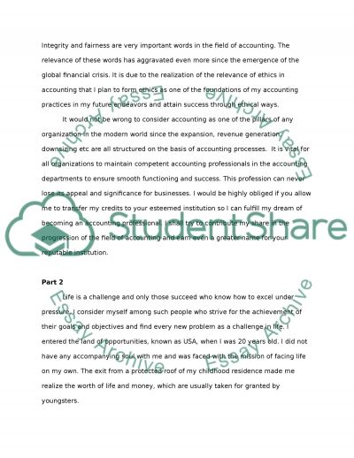Personal Statement for Transfer to UC Personal Statement example