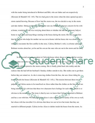the storm kate chopin english essay Do you think the storm excuses the characters in any way from responsibility for  their actionsin her short story the storm, kate chopin creates a situation where .