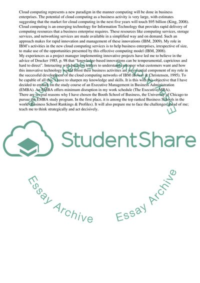 example uchicago essay
