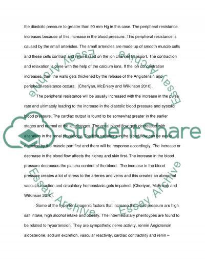 HYPERTENSION essay example