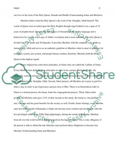 Informative Paper on Islam People essay example