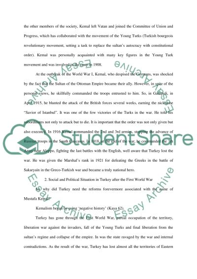 Mustafa Kemal Ataturk and Kemalism essay example