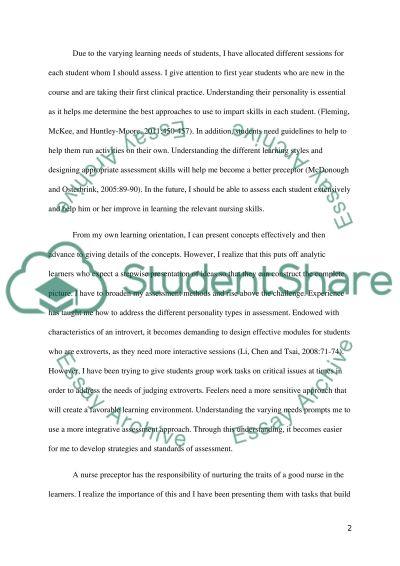 Reflection on the Development of a Nursing Teacher essay example