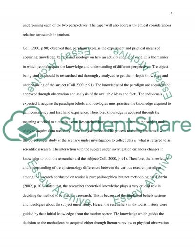 The qualitative and quantitative research paradigms and its underlying principles essay example