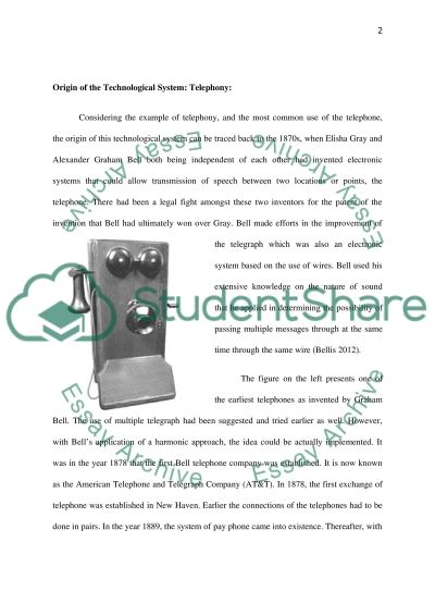 Telephony essay example