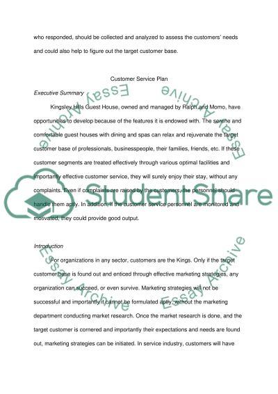 Manage Quailty Customer Service - Identify and evaluate Customer service essay example
