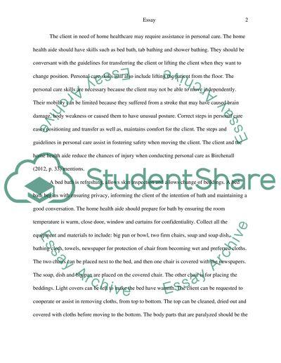 college essay about nursing home