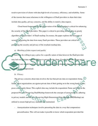 survey essay example