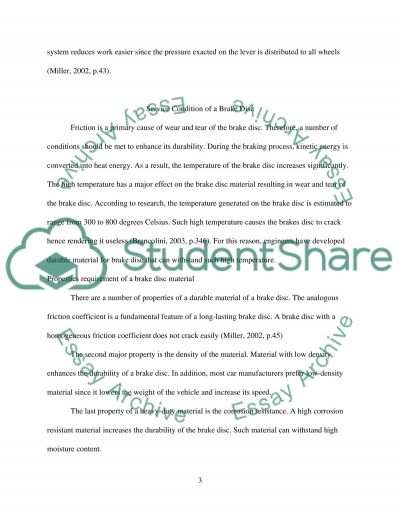 Brake disc essay example
