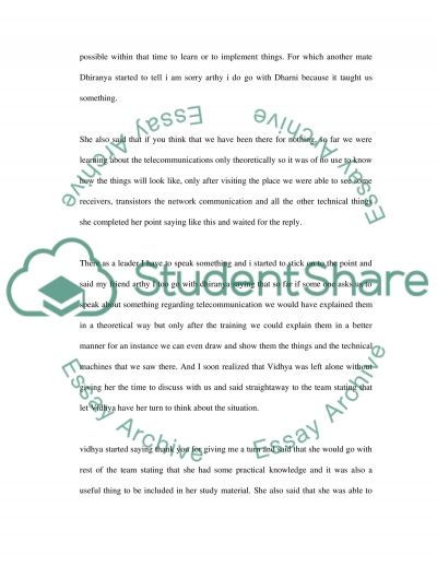 Small Group Dynamics essay example