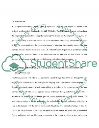 Hedging An Equity Portfolio essay example