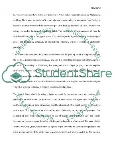 Book report/analysis of three articles of your choice regarding Christianity essay example