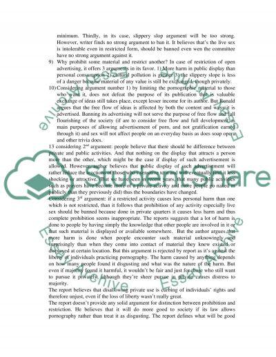Ronald Dworkins views essay example