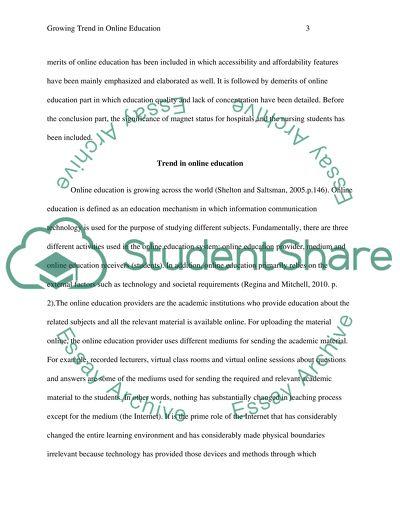 Growing trend in online education