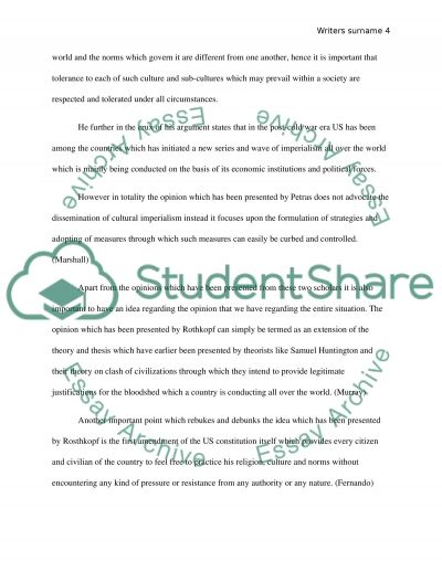 scholarly look on globalization and cultural imperialism essay text