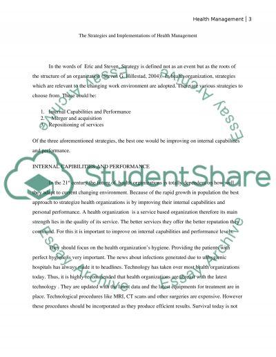 Health Care Management HA330 essay example