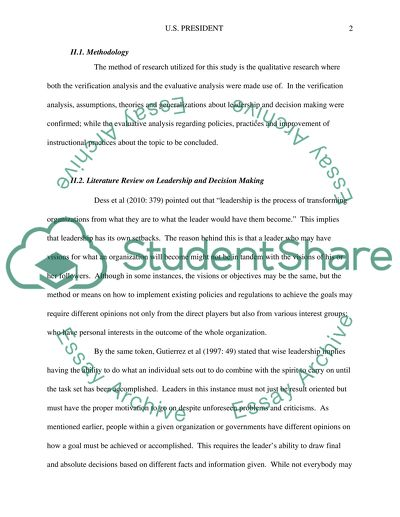 Thesis Statement Narrative Essay How Leadership Skills And Decision Making Reflects The Presidents  Personality Compare And Contrast Essay Examples For High School also What Is A Thesis Statement In A Essay How Leadership Skills And Decision Making Reflects The Presidents Essay How To Write Essay Papers