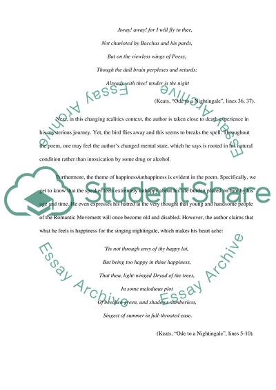 Keats ode to a nightingale essay navy rotc essay questions