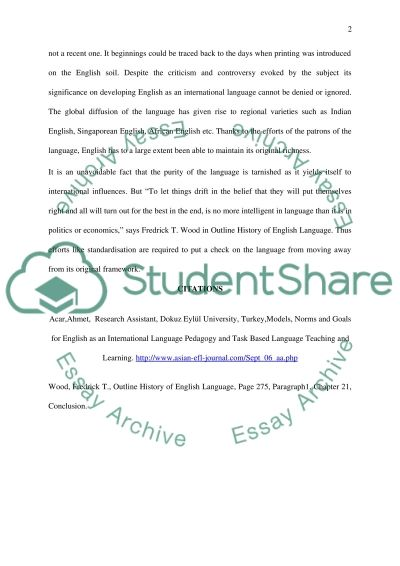 The Evolving English Language essay example