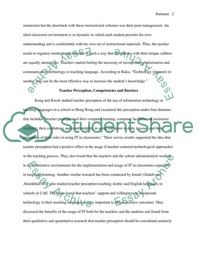 Teachers_ perceptions of the use of technology in teaching language