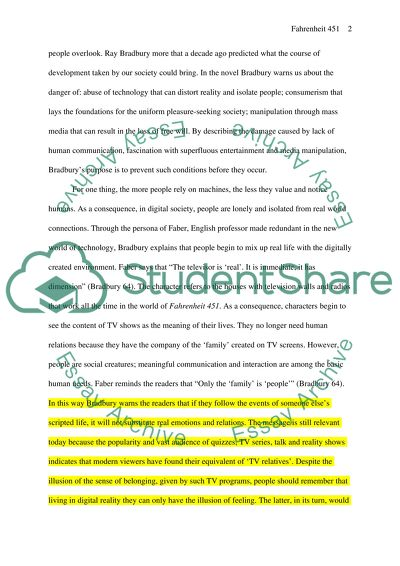 English Essay On Terrorism Ray Bradbury Fahrenheit  How To Write An Essay Proposal Example also Romeo And Juliet Essay Thesis Ray Bradbury Fahrenheit  Essay Example  Topics And Well Written  Business Essays