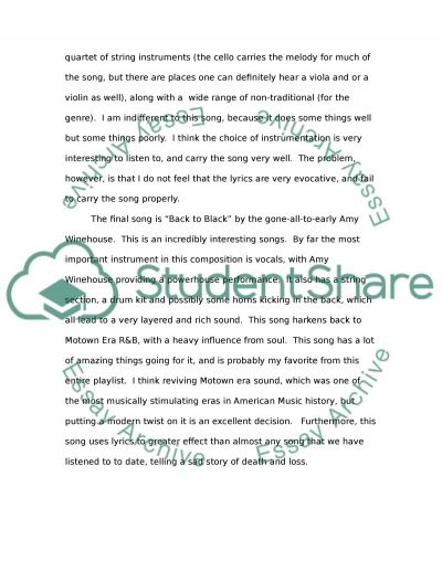listening log essay example topics and well written essays   text preview
