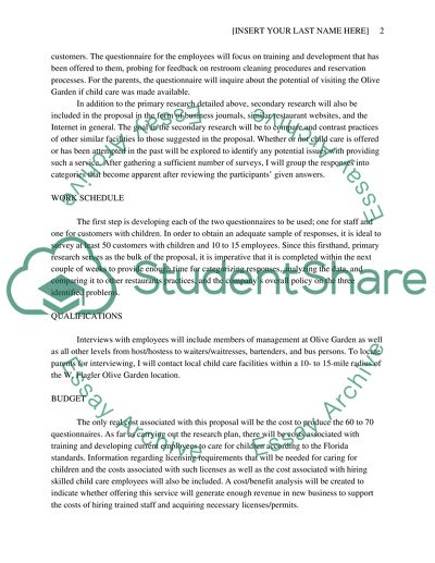 Business Research Proposal